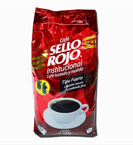 CAFE SELLO ROJO TIPO 3 (FUERTE) X2500 GRS( IVA 5  )